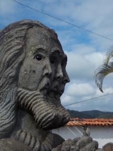 Escultura de um artista popular no Serro - MG